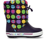 Una reseña de producto de  Kids' Crocband™ Hello Kitty® Colorful Circles Gust Boot