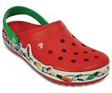 crocband holiday lights clog