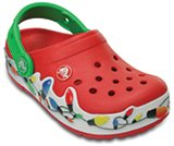 crocslights holiday clog kids