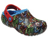 Kids' Crocs Fun Lab Fuzz Lined Avengers™ Clog