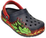 crocslights fire dragon clog kids