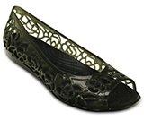 Chaussures crocs à talons plats en gel Isabella pour femmes