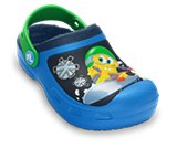 A product thumbnail of  Kids' Creative Crocs SpongeBob™ Goes Snowboarding Lined Clog