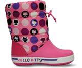 En miniatyrbild av Kids' Crocband™ Hello Kitty® Colorful Circles Gust Boot