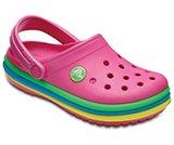 Kids' Crocband™ Rainbow Band Clogs