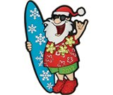 A product thumbnail of  Surf's Up Santa