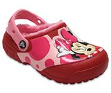 Kids' Crocs Fun Lab Fuzz Lined Minnie™ Clog