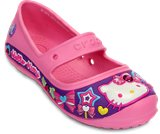 A product thumbnail of  Kids&rsquo; Creative Crocs Hello Kitty&reg; Candy Ribbons Flat