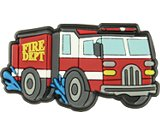 splashing fire truck