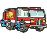 splashing fire truck
