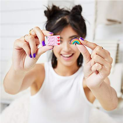 Girls & Rainbow Jibbitz.