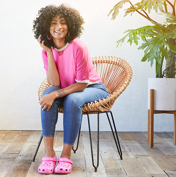 Classic Clog in Electric Pink.