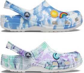 Marble Tie Dye Classic Clog, Cloud Classic Clog .
