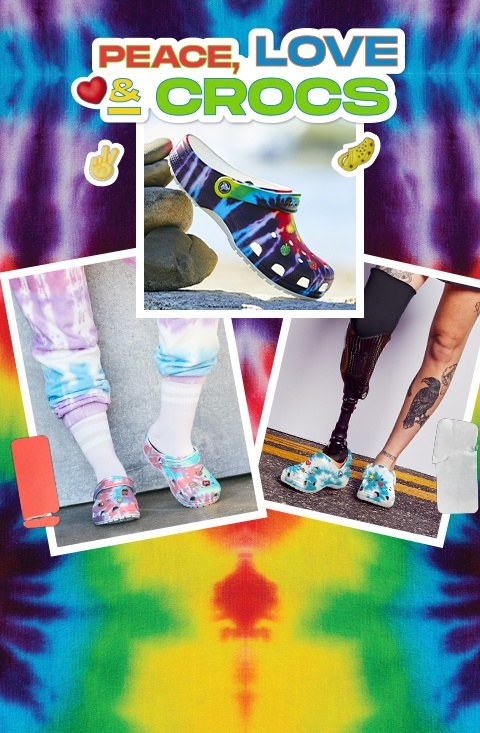 Classic Tie-Dye Graphic Clog.