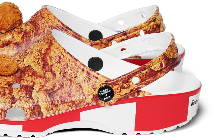 Back of Kentucky Fried Chicken® Classic Clogs featuring logo and Colonel Sanders.