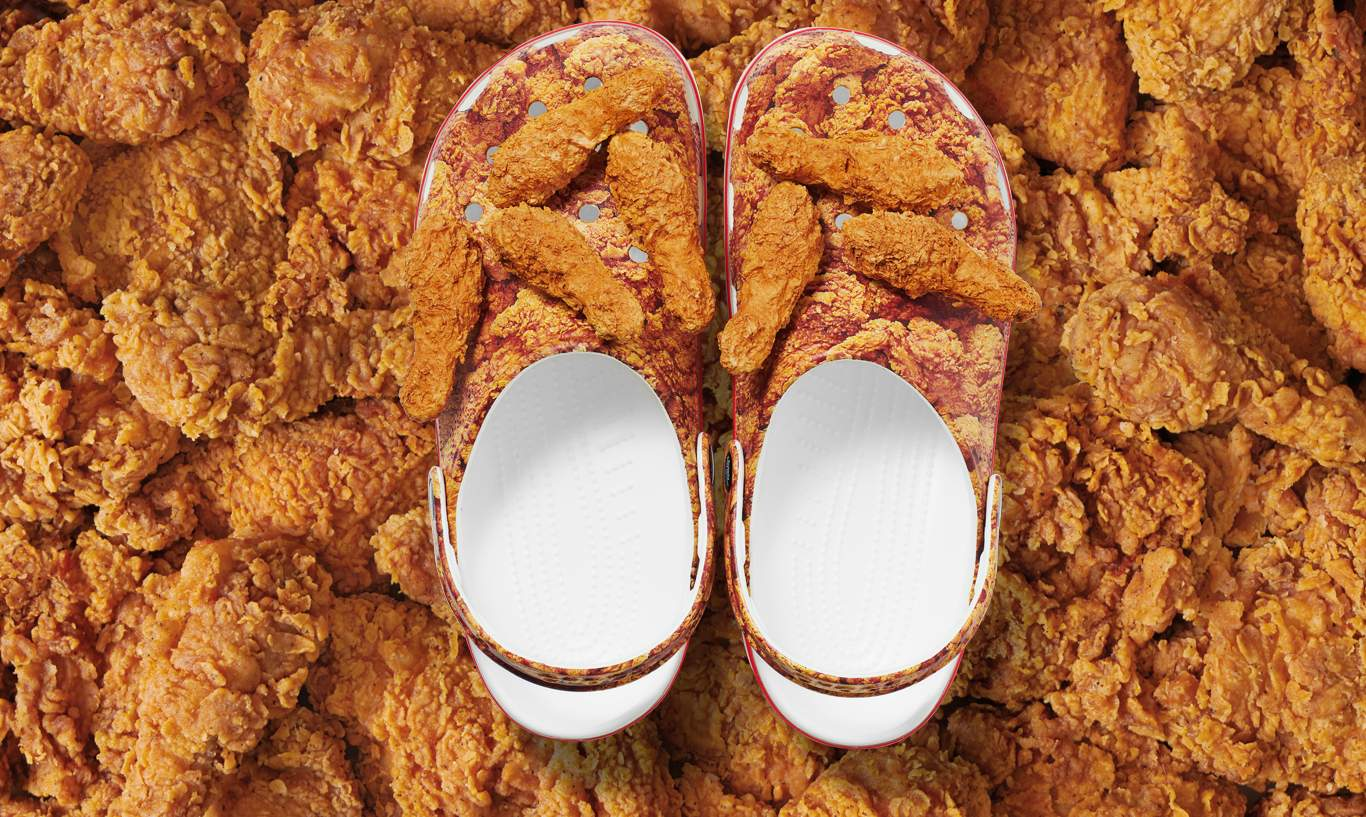 , <b> Crocs x KFC drops chicken-scented shoes &#8211; and it&#8217;s a lot to take in </b>