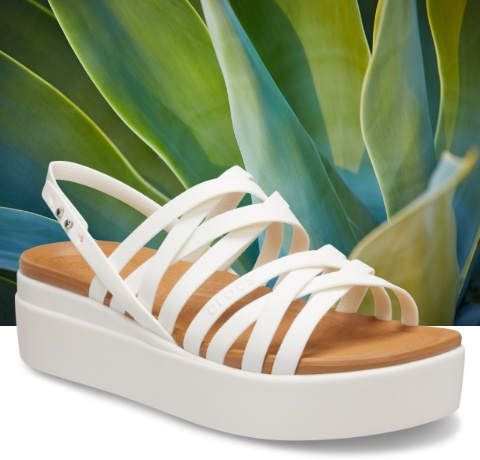 Brooklyn Strappy Sandals in White.