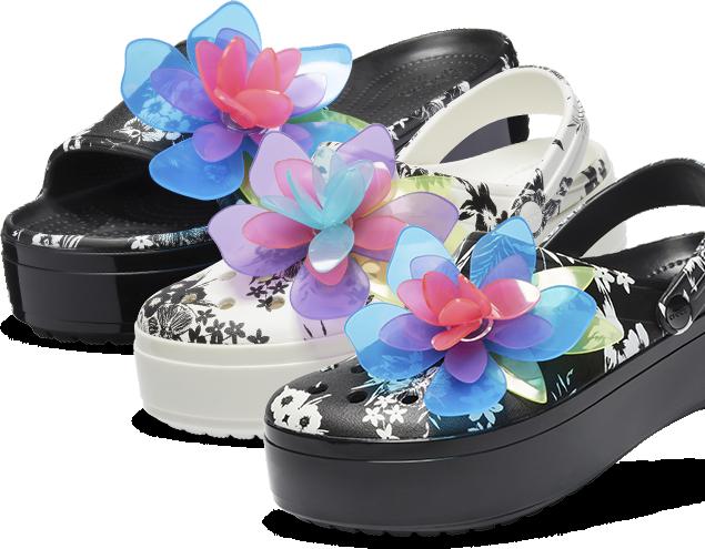 886fdfb22fcd9 Crocband™ Platform Hyper Tropic Slide, Black; Crocband™ Platform Hyper  Tropic Clog,
