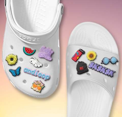 2 x Moana Croc Shoe Charms Crocs Jibbitz Shoes Charm Disney
