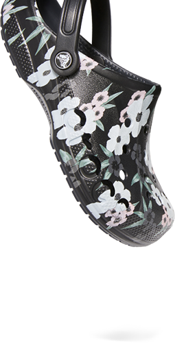 Baya Printed Clog, Tropical Floral/Black.