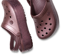 Crocband™ Platform Metallic Clogs, Metallic Burgundy.