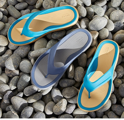 Blue swiftwater sandal.