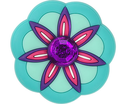 b96556b5010b4 Rhinestone Pink Flower Jibbitz™ Shoe Charm – Crocs
