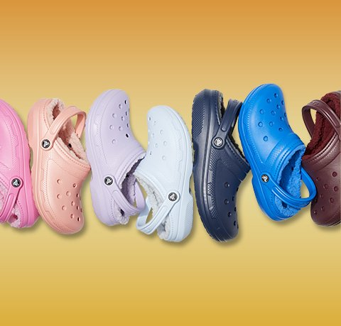 Classic Fuzz-Lined Clogs in Pink Lemonade, Melon, Lavender, White, Navy, Bright Cobalt, & Burgundy.