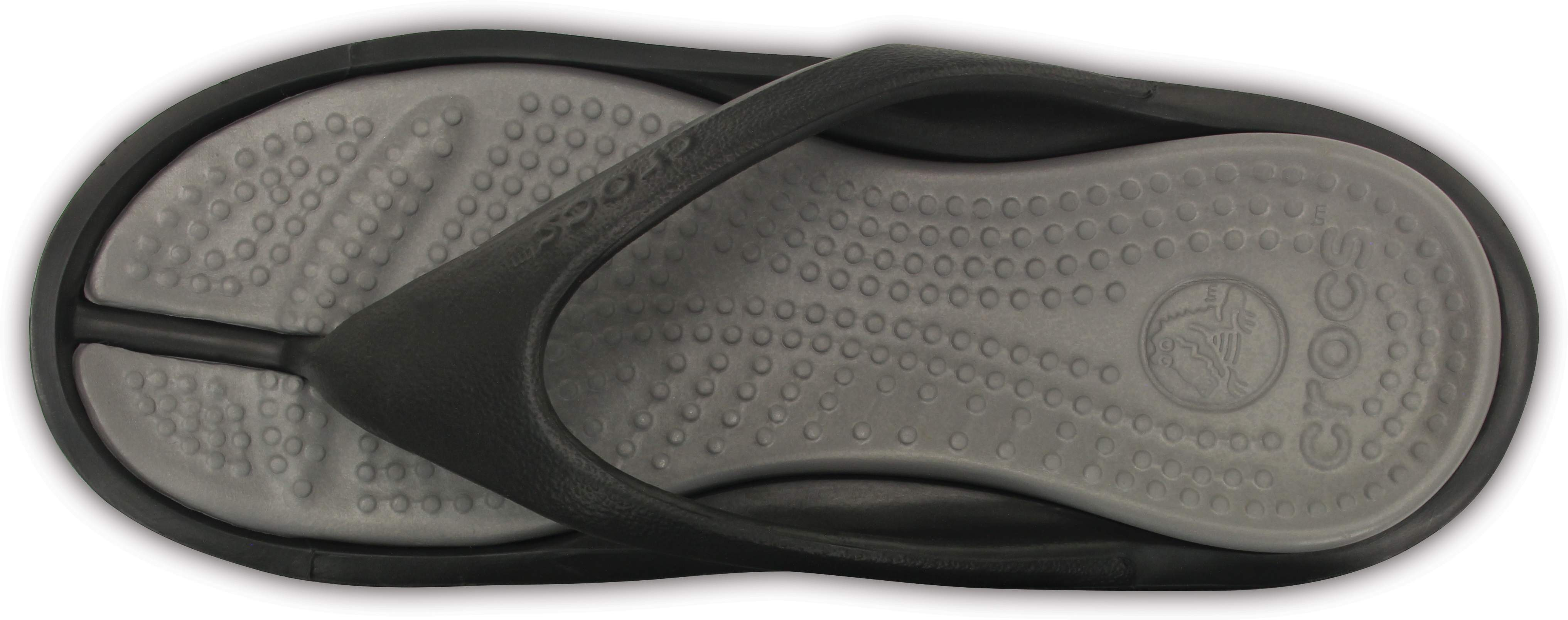 Mens Crocs Flip Flops Sandals Athens Black Gray 10024-05M