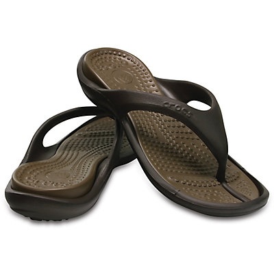 Image of Crocs Athens Flip Dark Brown 10024-23B