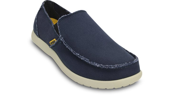 c2d90909131 Crocs Santa Cruz Relaxed Fit Casual Loafers Mens Navy stucco 10