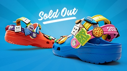 Sold out, Pizzaslime classic clog with jibbitz.