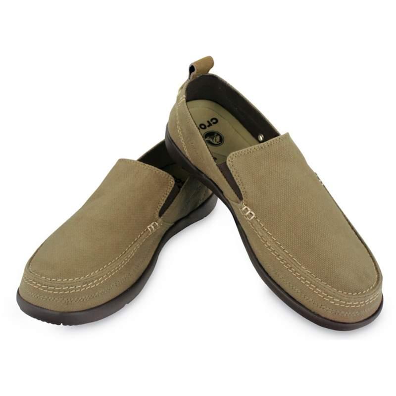 【クロックス公式】 ワルー スリップオン メン Men's Walu Slip-On メンズ、紳士、男性用 ブラウン/茶 25cm,26cm,27cm,28cm,29cm loafer ローファー 靴 20%OFF