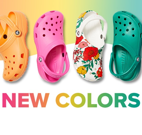 Classic Clogs is assorted new colors.