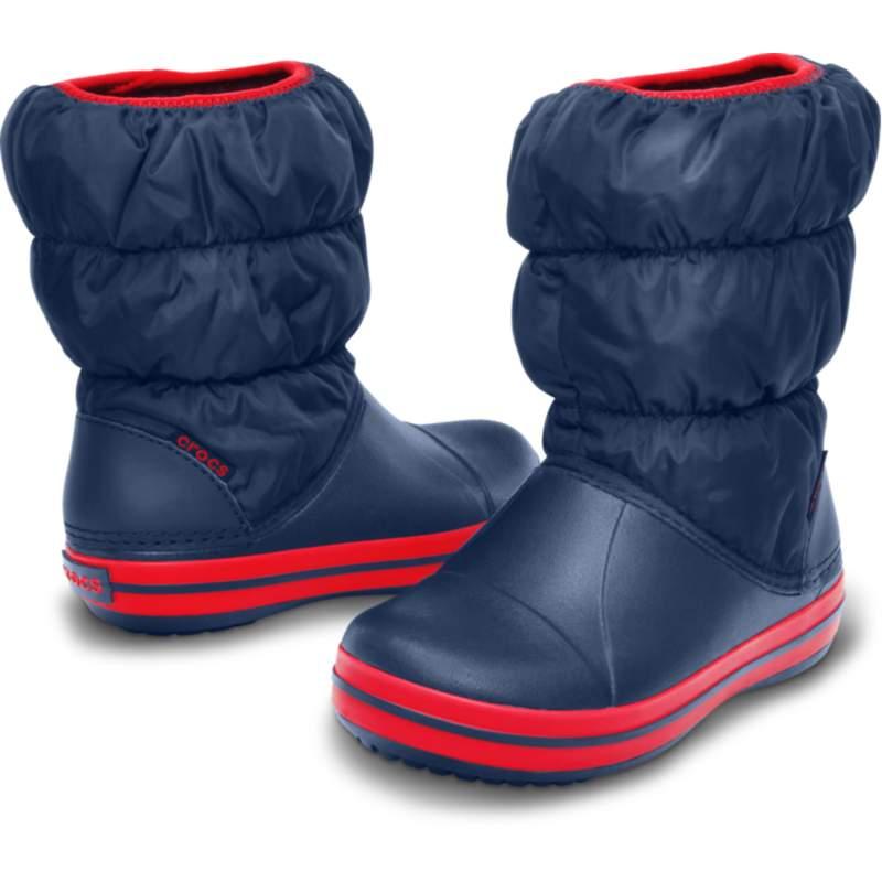 【クロックス公式】 ウィンター パフ ブーツ キッズ Kids' Winter Puff Boot ユニセックス、キッズ、子供用、男の子、女の子、男女兼用 ブルー/青 14cm,15cm,15.5cm,16.5cm,17.5cm,18cm,18.5cm,19cm,19.5cm,20cm,21cm boot ブーツ
