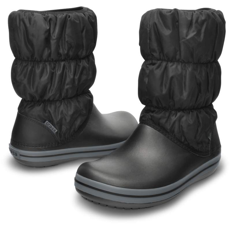 【クロックス公式】 ウィンター パフブーツ ウィメン Women's Winter Puff Boot ウィメンズ、レディース、女性用 ブラック/黒 21cm,22cm,23cm,24cm,25cm boot ブーツ 40%OFF