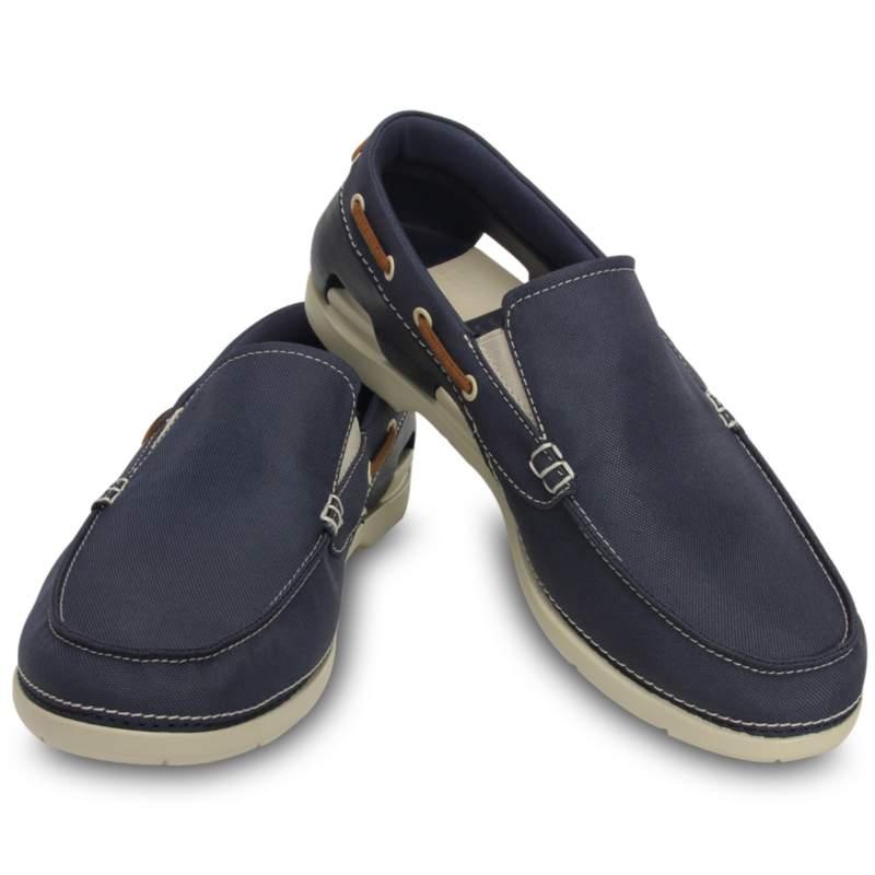 【クロックス公式】 ビーチライン ボート スリップオン メン Men's Beach Line Boat Slip-On メンズ、紳士、男性用 ブルー/青 25cm,26cm,27cm,28cm,29cm shoe 靴 シューズ