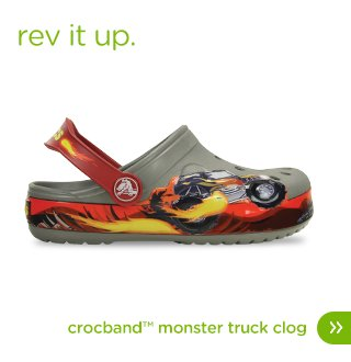 Rev it up. Crocband™ Monster Truck Clog