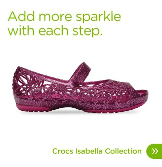 Add more sparkle with each step. Crocs Isabella Collection