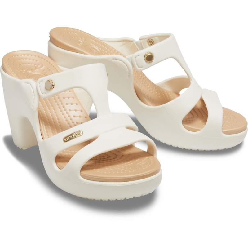 【クロックス公式】 サイプラス 5.0 ヒール ウィメン Women's Cyprus V Heel ウィメンズ、レディース、女性用 ホワイト/白 21cm,22cm,23cm,24cm,25cm heel ヒール パンプス ミュール