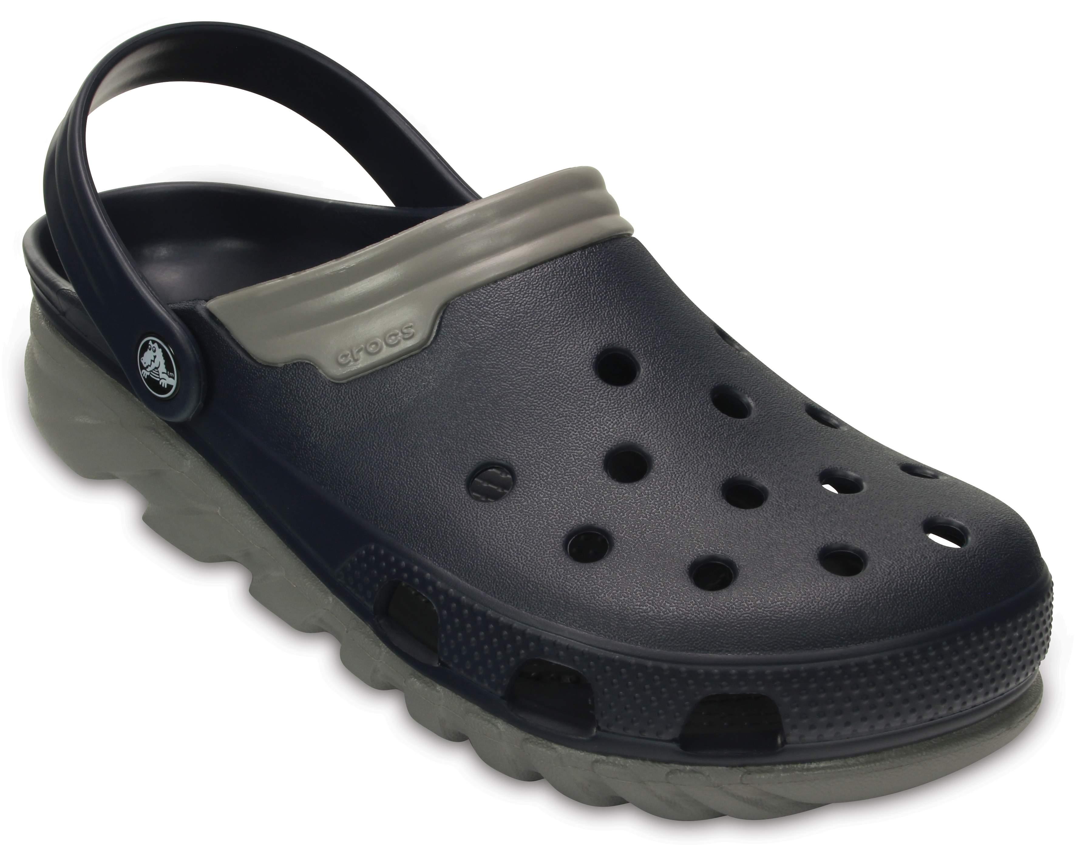 crocs Duet, Unisex - Erwachsene Clogs, Schwarz (Black/Graphite), 46/47 EU