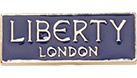 Blue rectangle with Liberty London Text.
