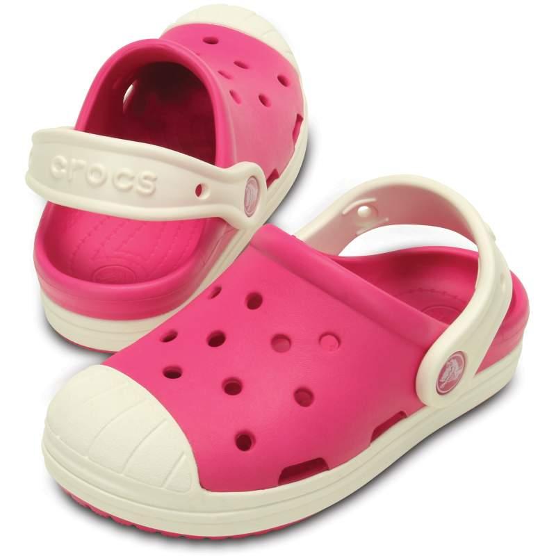 【クロックス公式】 クロックス バンプ イット クロッグ キッズ Kids' Crocs Bump It Clog ユニセックス、キッズ、子供用、男の子、女の子、男女兼用 ピンク/ピンク 14cm,15cm,15.5cm,16.5cm,17.5cm,18cm,18.5cm,19cm,19.5cm,20cm,21cm clog クロッグ サンダル