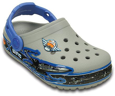 Crocs Shoes  Crocs CrocsLights Star Wars Xwing Clog Infant Sandals Light GreyBlue
