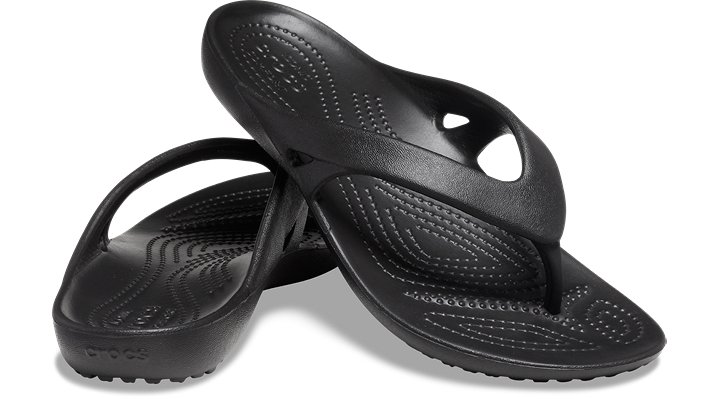 16563f7abe076b Crocs Kadee LL Black Flip Flop Thong Sandals Women s USA Size 7 10 ...