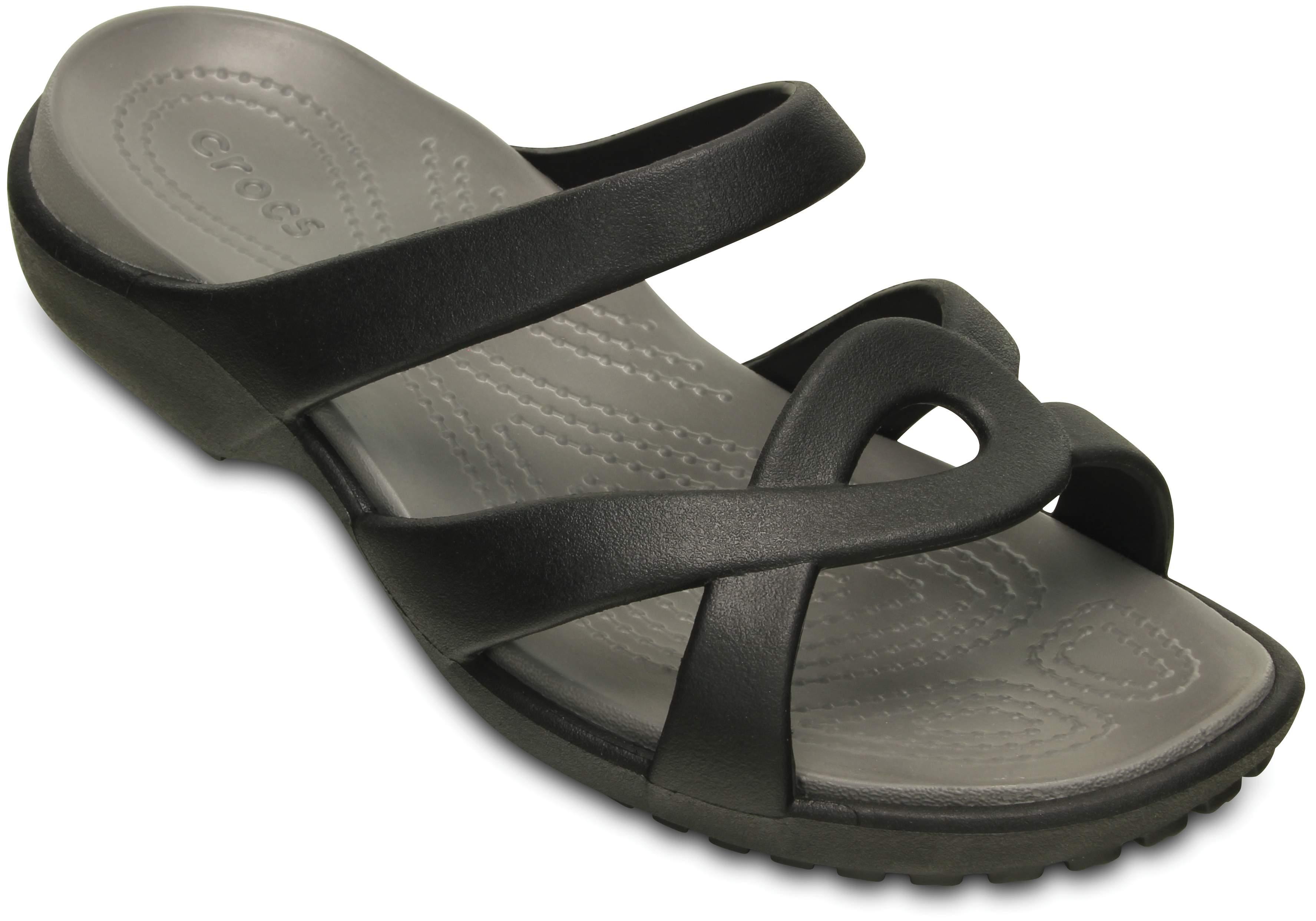 Pantoletten CROCS - Meleen Twist Sandal W 202497 Black/Smoke