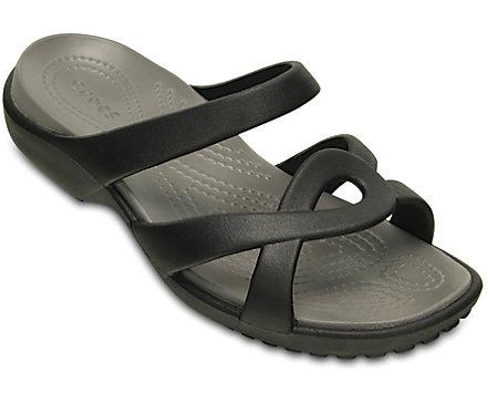 Pantoletten CROCS - Meleen Twist Sandal W 202497 Black/Smoke AhkpIyb0