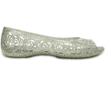 f33ea6ba1d3f Kids  Crocs Isabella Glitter Flat - Crocs