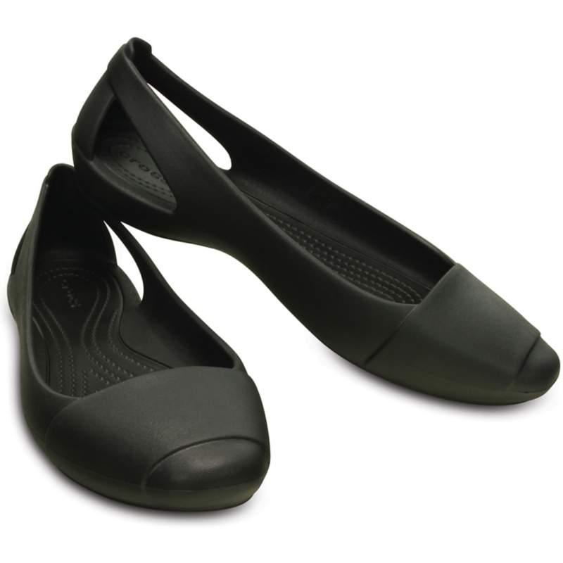 【クロックス公式】 クロックス シエンナ フラット ウィメン Women's Crocs Sienna Flat ウィメンズ、レディース、女性用 ブラック/黒 21cm,22cm,23cm,24cm,25cm,26cm flat フラットシューズ バレエシューズ ぺたんこシューズ 40%OFF