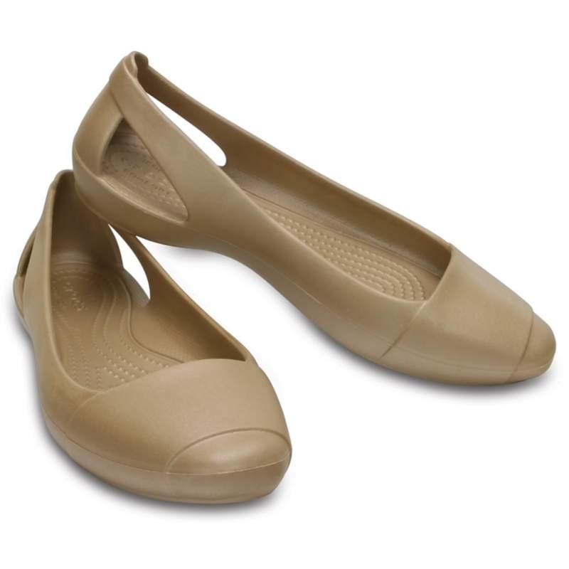 【クロックス公式】 クロックス シエンナ フラット ウィメン Women's Crocs Sienna Flat ウィメンズ、レディース、女性用 ブラウン/茶 21cm,22cm,23cm,24cm,25cm,26cm flat フラットシューズ バレエシューズ ぺたんこシューズ 40%OFF